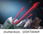 rising inflation money   Shutterstock . vector #1034736469