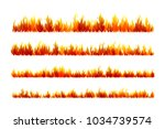 fire. design collection.... | Shutterstock .eps vector #1034739574