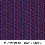 isometric grid. vector seamless ... | Shutterstock .eps vector #1034743069