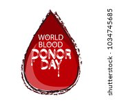 world blood donor day... | Shutterstock .eps vector #1034745685