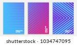 minimal cover design. linear... | Shutterstock .eps vector #1034747095