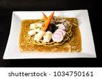 crispy egg noodles thai food | Shutterstock . vector #1034750161