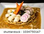 crispy egg noodles thai food | Shutterstock . vector #1034750167