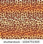 vector leopard texture. vector...   Shutterstock .eps vector #1034751505