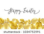 happpy easter card with... | Shutterstock .eps vector #1034752591
