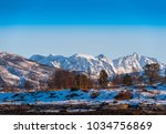 mountains in the north of... | Shutterstock . vector #1034756869