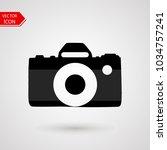 camera icon logo in trendy flat ... | Shutterstock .eps vector #1034757241