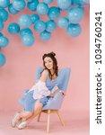 a beautiful  tender young girl...   Shutterstock . vector #1034760241