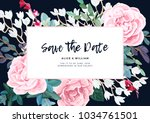 floral wedding invitation... | Shutterstock .eps vector #1034761501