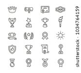 awards related icons  thin... | Shutterstock .eps vector #1034764159