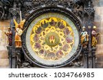astronomical clock at the town... | Shutterstock . vector #1034766985