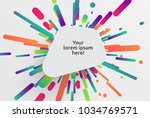 colorful blank template for... | Shutterstock .eps vector #1034769571