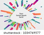 colorful blank template for... | Shutterstock .eps vector #1034769577