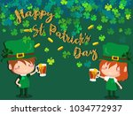 happy saint patrick's day... | Shutterstock .eps vector #1034772937