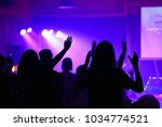 christian worship concert and... | Shutterstock . vector #1034774521