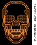 digital skull  design t shirts  | Shutterstock .eps vector #1034786959