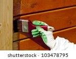 Hand Painting Wooden Wall With...