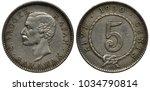 sarawak silver coin 5 five... | Shutterstock . vector #1034790814