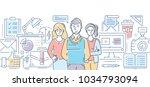 design studio   modern color...   Shutterstock .eps vector #1034793094
