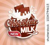 logo  label of fresh chocolate... | Shutterstock .eps vector #1034794615