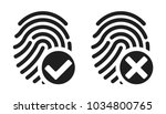 vector fingerprint accepted and ... | Shutterstock .eps vector #1034800765