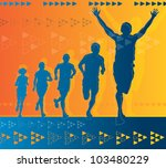 abstract winning athlete | Shutterstock .eps vector #103480229