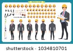 male architect in business suit ... | Shutterstock .eps vector #1034810701