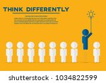 think differently   being... | Shutterstock .eps vector #1034822599