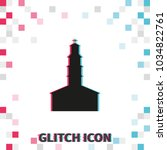 simple  church glitch effect... | Shutterstock .eps vector #1034822761