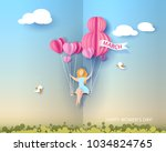 card for 8 march womens day.... | Shutterstock .eps vector #1034824765
