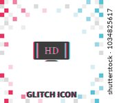hdtv  glitch effect vector icon.... | Shutterstock .eps vector #1034825617