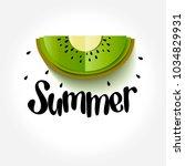 kiwi cut flat folding style.... | Shutterstock .eps vector #1034829931