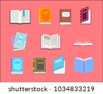 open book vector icons. study...   Shutterstock .eps vector #1034833219