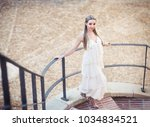 beautiful girl with... | Shutterstock . vector #1034834521