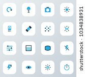 image icons colored set with... | Shutterstock . vector #1034838931