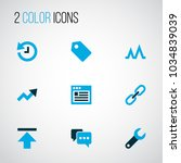 interface icons colored set...