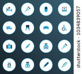 drug icons colored set with... | Shutterstock .eps vector #1034839057
