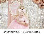 beautiful blonde mother and... | Shutterstock . vector #1034843851