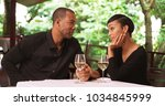 a black man proposes to his... | Shutterstock . vector #1034845999