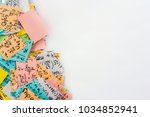 a group of multi colored... | Shutterstock . vector #1034852941