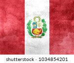 watercolor flag background. peru | Shutterstock . vector #1034854201