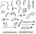 doodle hand drawn vector arrows | Shutterstock .eps vector #1034855161