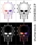 skull graphics tatoo and t... | Shutterstock .eps vector #1034858119