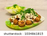 Fried Meatballs With Stroganof...