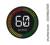 time and clock  60 seconds  ... | Shutterstock .eps vector #1034862505