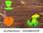 st. patrick's day theme... | Shutterstock . vector #1034864149
