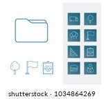 package icon set and flag with...