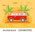 summer sea landscape with the... | Shutterstock .eps vector #1034869381