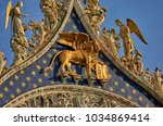 italy  venice  details of the... | Shutterstock . vector #1034869414