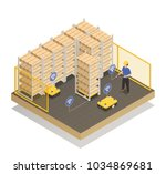 smart industry machine... | Shutterstock .eps vector #1034869681